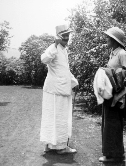 Baba with Mehera ;  Courtesy of MN Collection