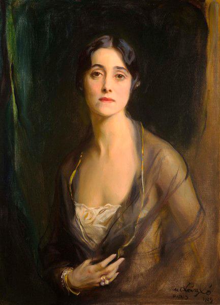 Painting : Mrs. Charles Munn, née Mary Astor Paul ( 1929 ). Artist :  de László. Drexel Museum Drexel University Pennsylvania, USA