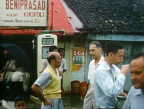 ( l-r ) Dana Field, Malcolm Schloss, John with a cup of tea & Fred Frey
