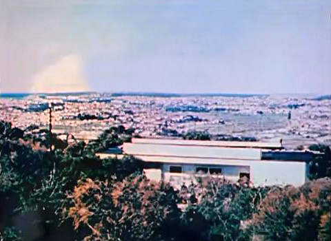 Mid-1950s ; View towards the Pacific Ocean with Meher House in the foreground