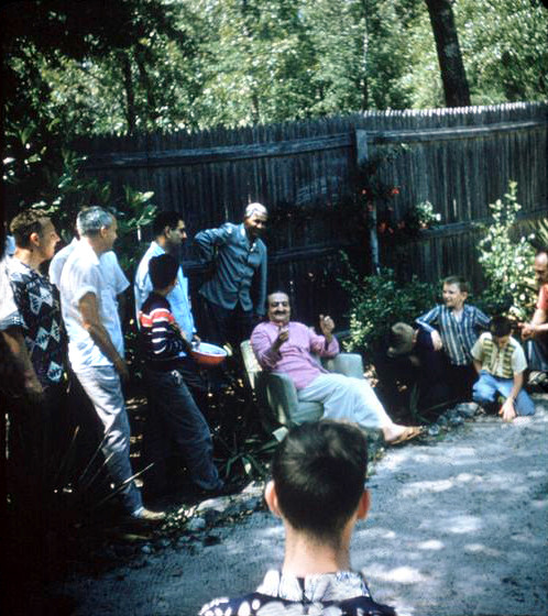 1958 - Baba's Compound at Myrtle Beach, SC. Lud is in the far left.