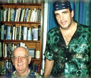 Jon with Sir Arthur C. Clark at his home in Sri Lanka