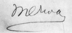 Meher Baba signed his name as Merwan