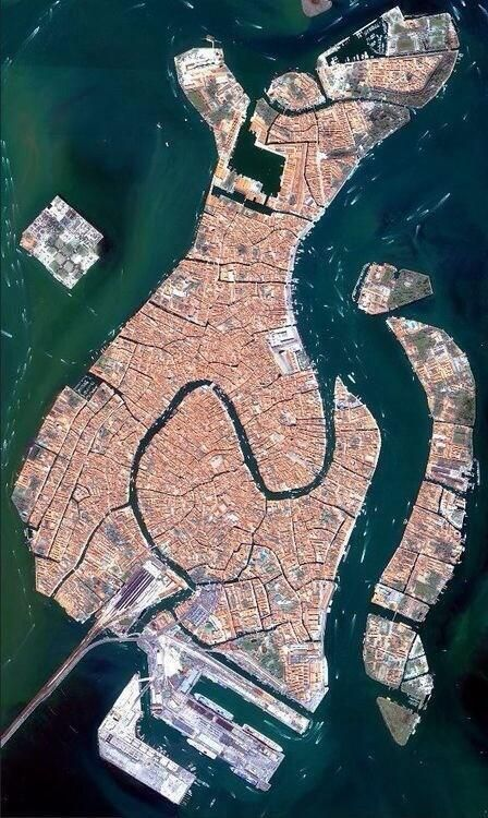 Aerial photo of Venice