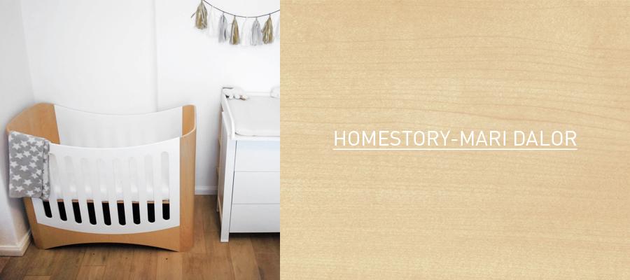Design Kinderbett as Holz mit integreirtem Beistellbett