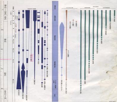 緑左縦線が嫌気性細菌   |   緑右縦線が脊椎動物いわゆるヒト                              県立自然史博物館 解設ボランティア資料から