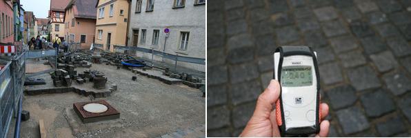 ドイツの市街地石畳み 0.4マイクロシーヘルト