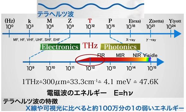 自然界のテラヘルツ波動は科学的に認知され、その応用研究が進められていますよ。 可視光(ヒト)の100万の1(細胞の大きさ)。富士山をヒトと相似すると細胞の大きさはゴルフボ-ル位の大きさで、ちょうど100万の1となり、細胞の可視光となります。