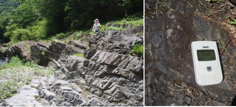 下仁田町 逆転層 0.25マイクロシーヘルト  ※通常の泥岩は ゼロに近い数値です