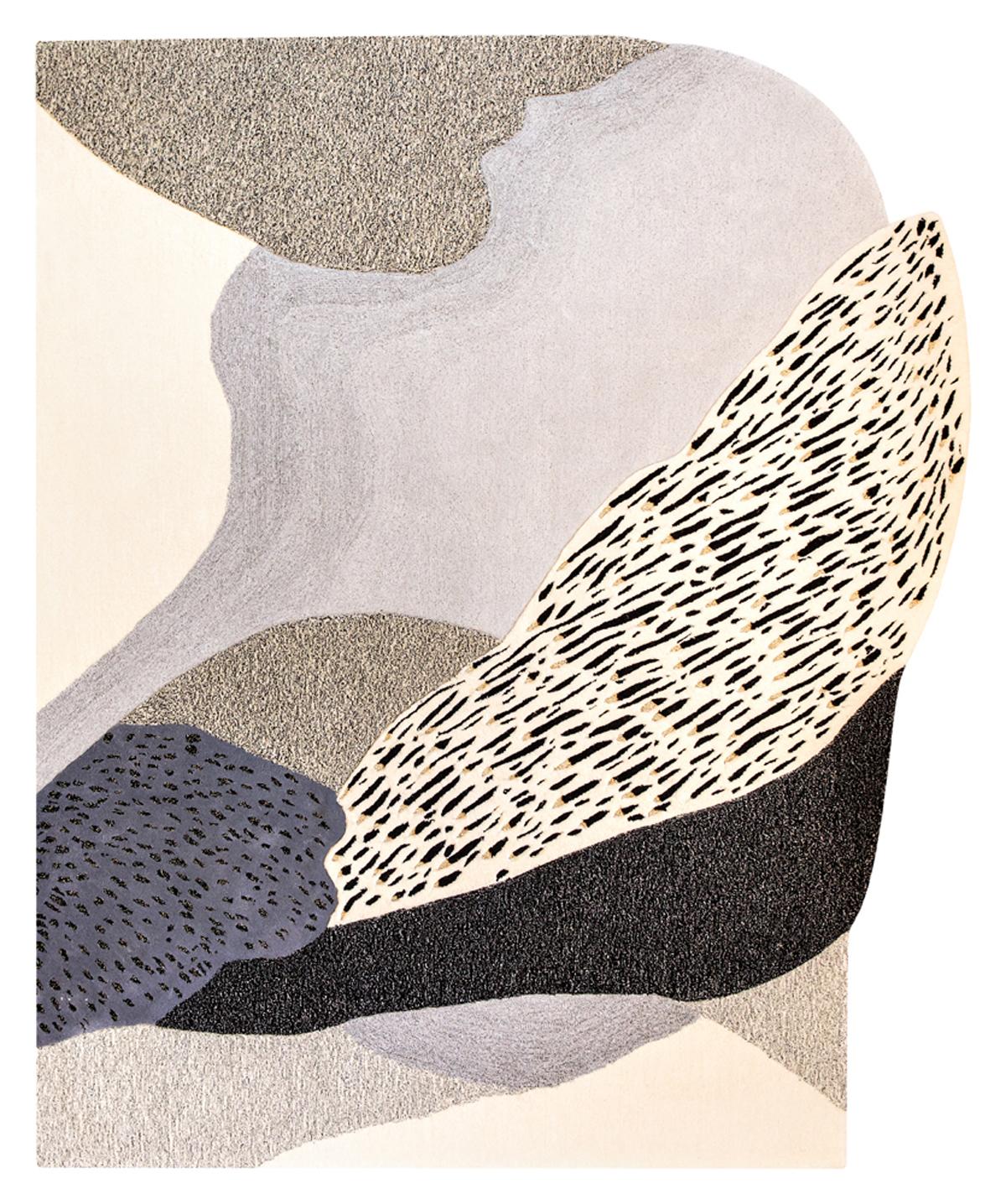 Effusion, 211 x 251 cm, laine, lurex et métal