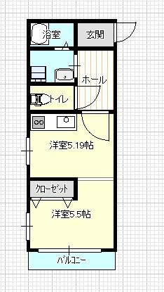1DK 3号室