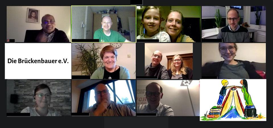 Einige Mitglieder bei der diesjährigen online-Mitgliederversammlung