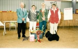 """Der Best in Showhund von Frau Ballhause, der """"Scottish Terrier"""""""