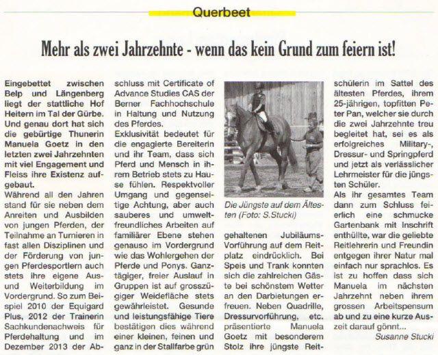 Manuela Goetz Reit- und Ausbildungsstall Heitern