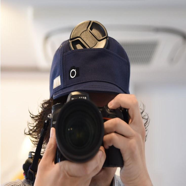 カメラ 帽子
