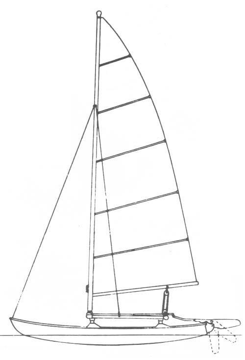 hobie 14 sails