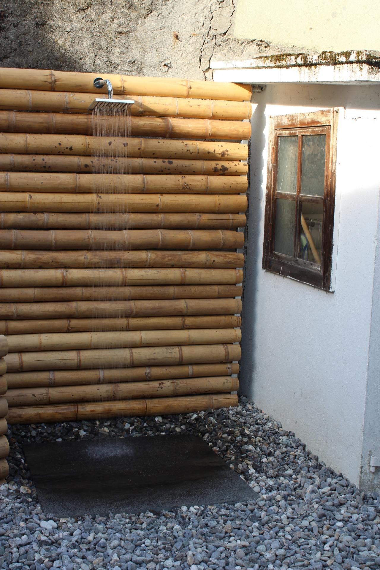 Creation douche en bambou