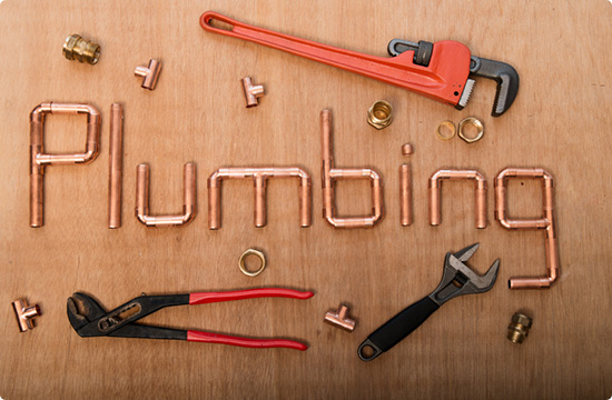 plumber tools and copper fittings
