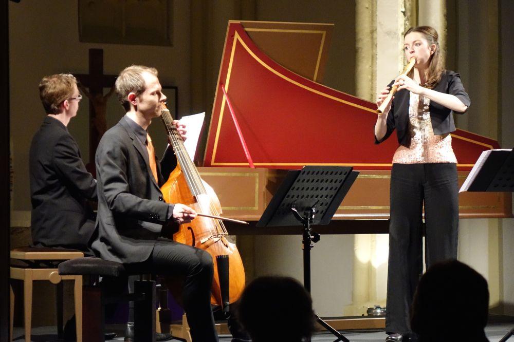 Anna Petrini Baroque Trio, Musikwinter Gschwend, mit Wittmayer Cembalo
