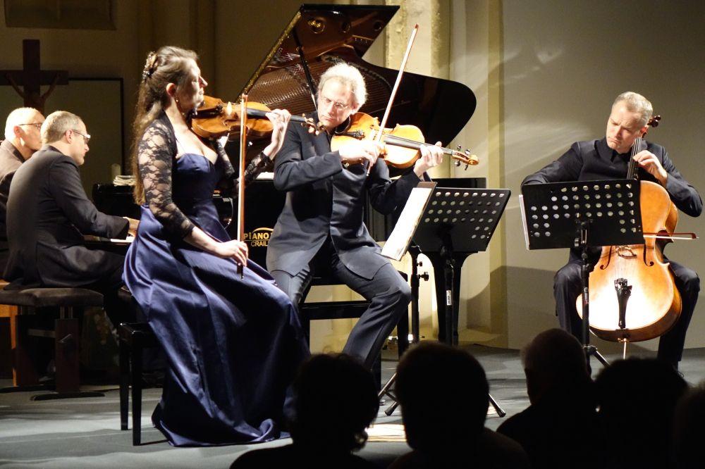 Faurée-Quartett, Musikweinter Gschwend, mit SHIGERU KAWAI Flügel SK VI