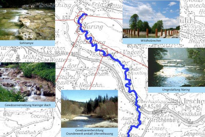 Flussbauliche Maßnahmen des WWA zur Verbesserung der Durchgängigkeit und Erhöhung der Strukturvielfalt
