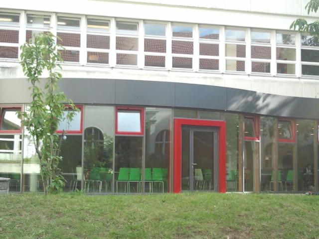 Innenhof: Caféteria