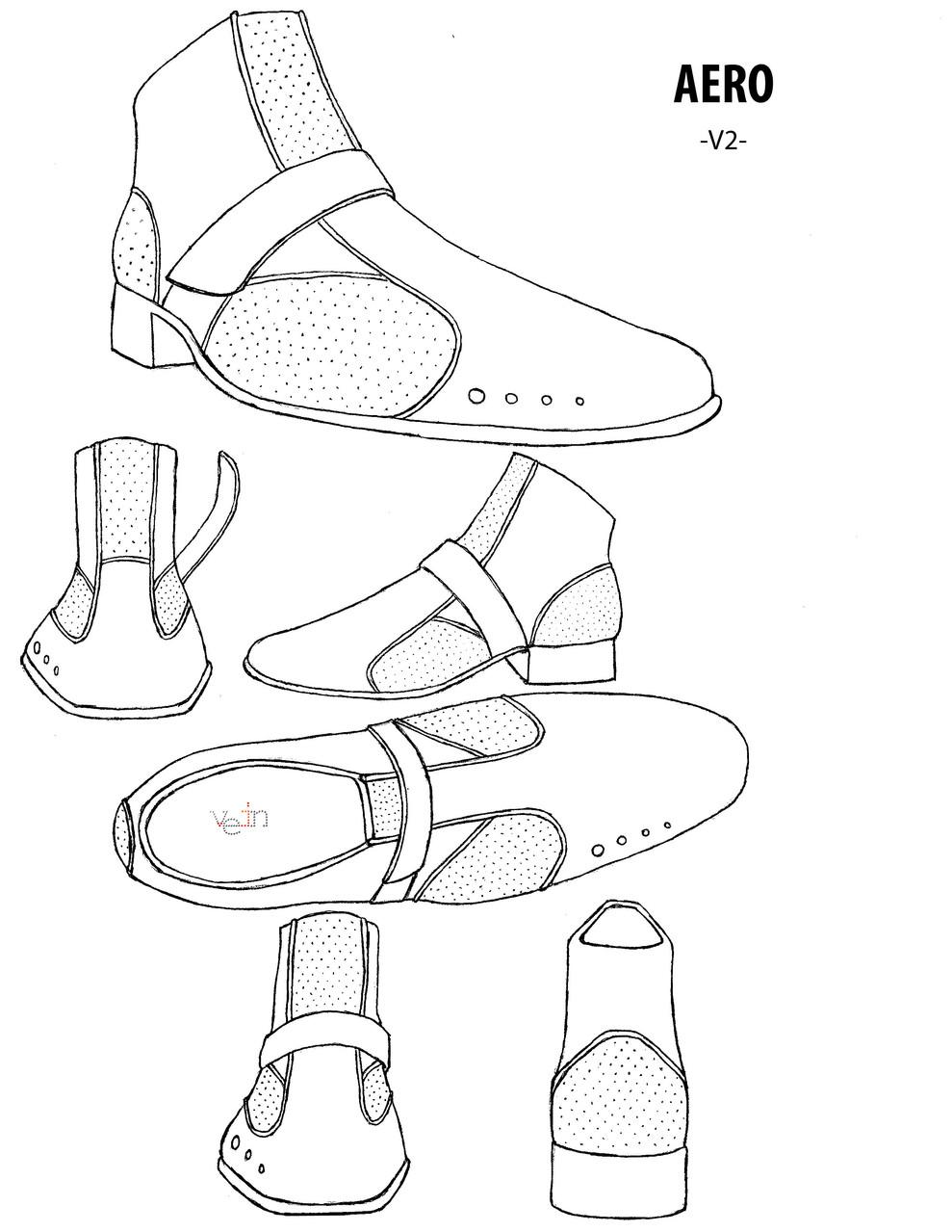 The Aero shoe design. 2011 Vein Wear Design winner!