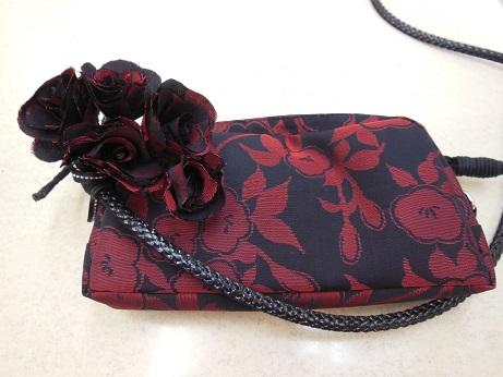 花ドレス共布バッグ2