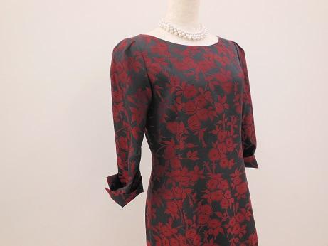 着物リメイク花のドレス