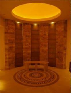 Eingangsbereich mit Wasserwand