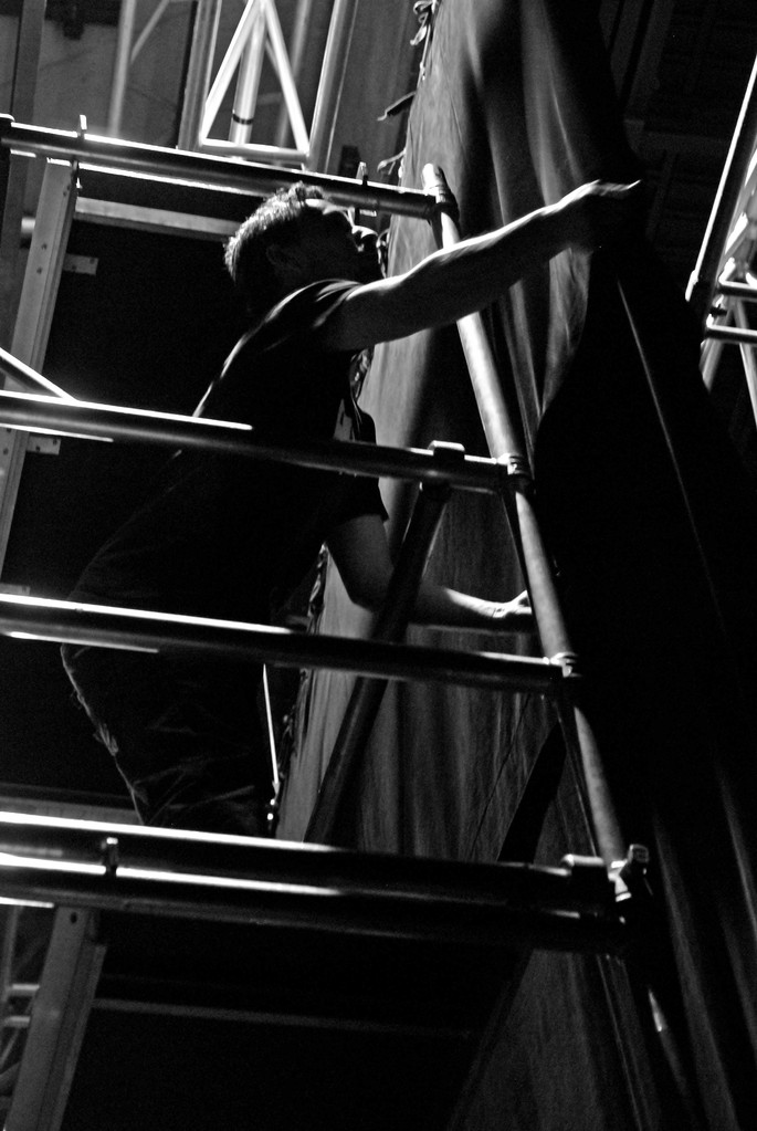 Les leçons de jazz d'Antoine Hervé, montage de lumières. 6 mars 2012