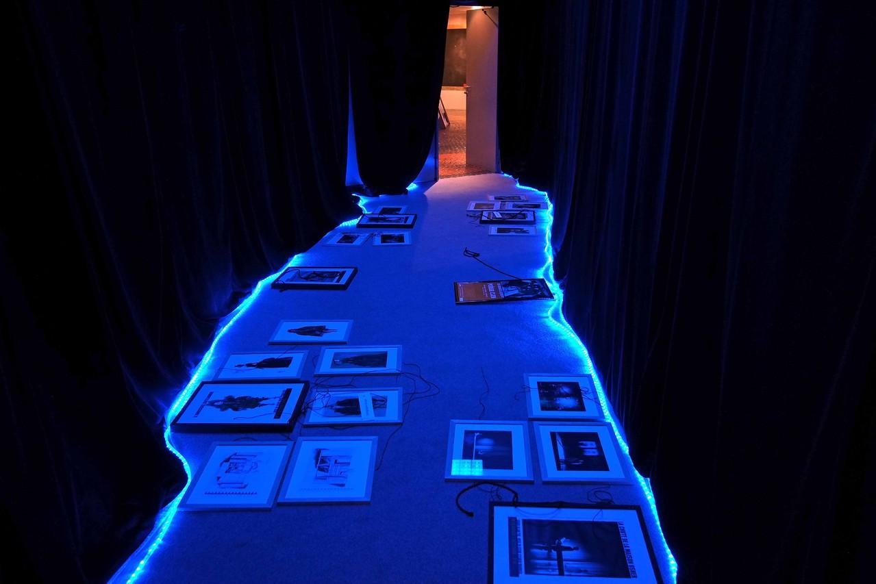 Entracte, soirée de présentation de la saison 2012 / 2013; montage des décors avant la représentation