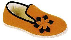 charentaise orange fleur marron