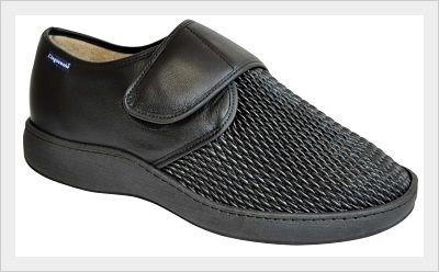 chaussure homme, pieds diabétique, cuir et lycra