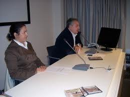 Grazia Pacella (Presidente Associazione Culturale Storia Viva) Mauro Vittorio Quattrina (Regista e Documentarista) Durante la Conferenza Stampa nella sede della Provincia di Trento