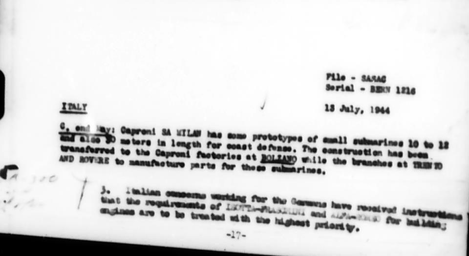 Sottomarini CAPRONI. 1944