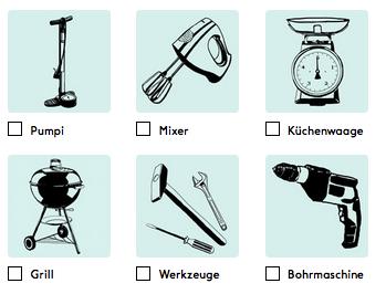 Das Schweizer Konzept »Pumpipumpe« erleichtert das Verleihen von Geräten an Nachbarn. Die Wirtschaftsförderung 4.0. kann dazu den Anfangsimpuls geben.