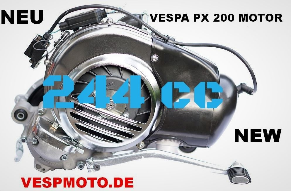 engine quattrini m 244 cc vespa px 200 motor by vespmoto. Black Bedroom Furniture Sets. Home Design Ideas