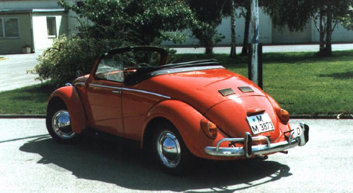 Basismodell: 1200er Bj. 64, Umbau 1986, Senegalrot. Dieses Fahrzeug ist immer noch angemeldet und läuft und läuft und läuft!!!