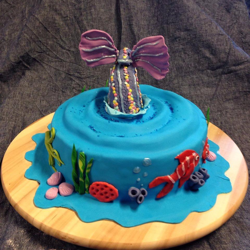 Für kleine Meerjungfrauen (Eine durch und durch schokoladige Torte)
