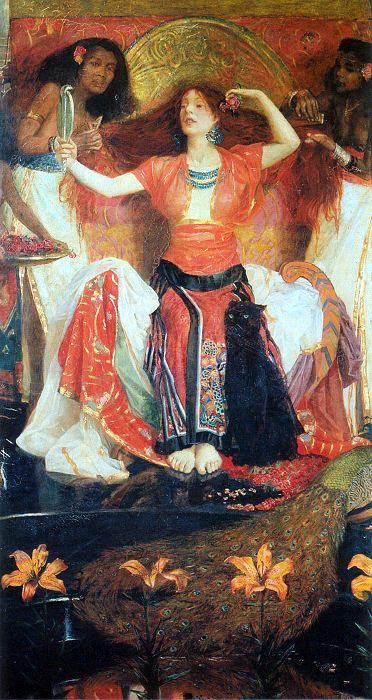 Byam Shaw Jezebel mit zwei Dienerinnen