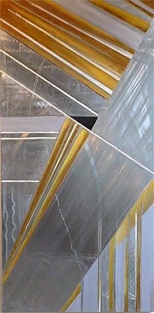 METAL'ART 01  gravure et peinture sur  zinc    50x100         non disponible