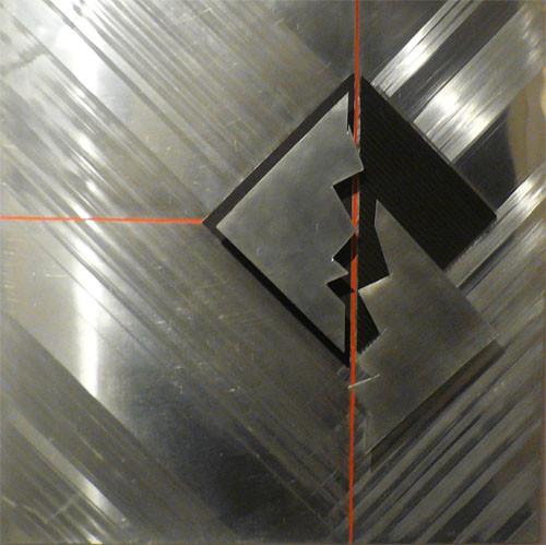 METAL'ART 02 gravure et assemblage sur plaque de zinc 70X70 disponible