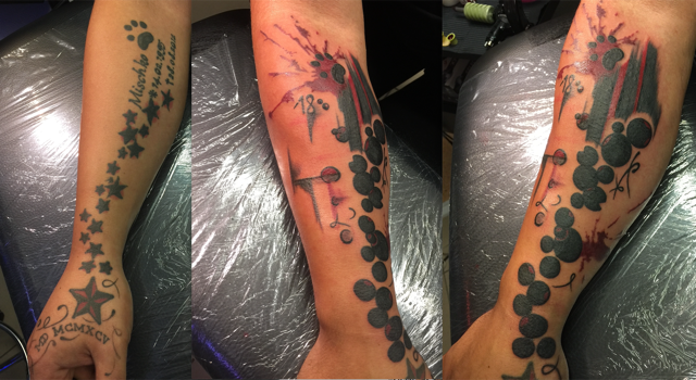 Cover-Up-Tattoo Trash Style