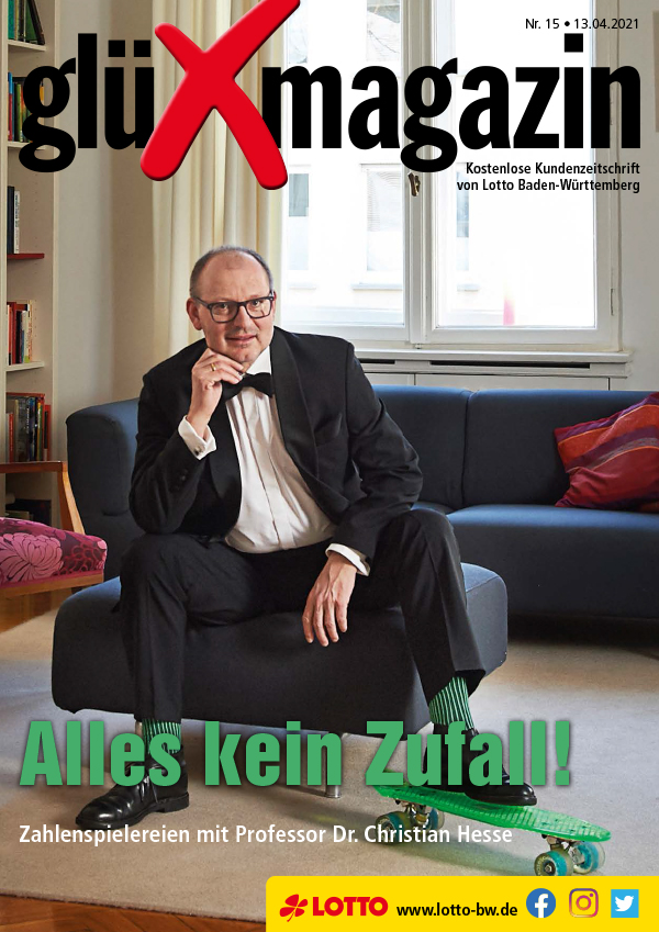 Christian Hesse auf der Titelseite, glüXmagazin, 13.04.2021