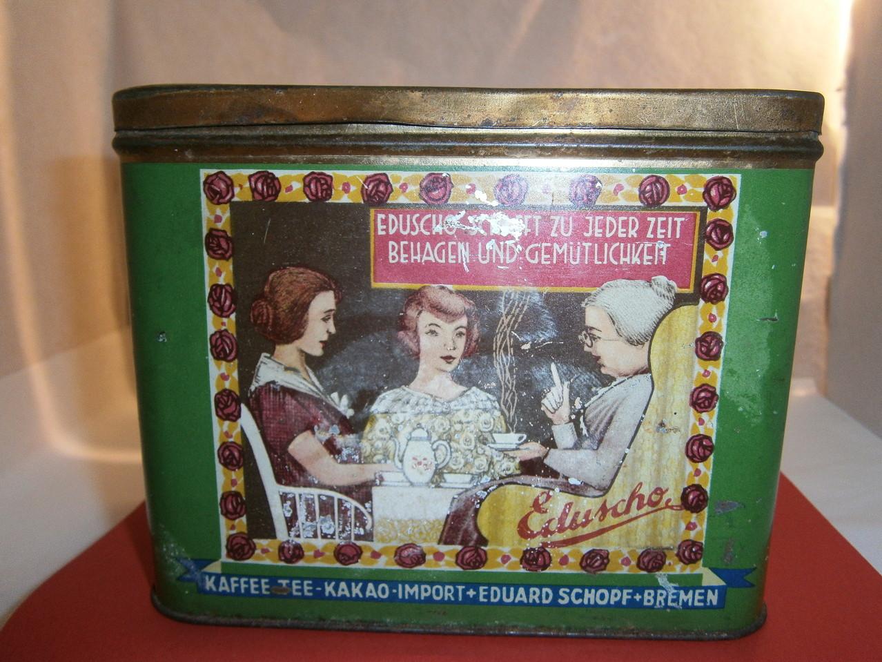Eduscho Kaffeedose um 1930