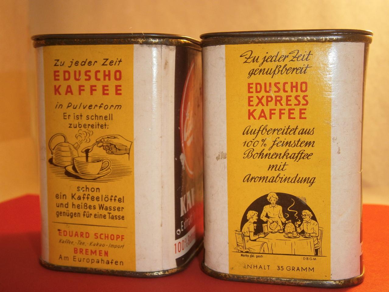 Eduscho Kaffeedose ab 1960