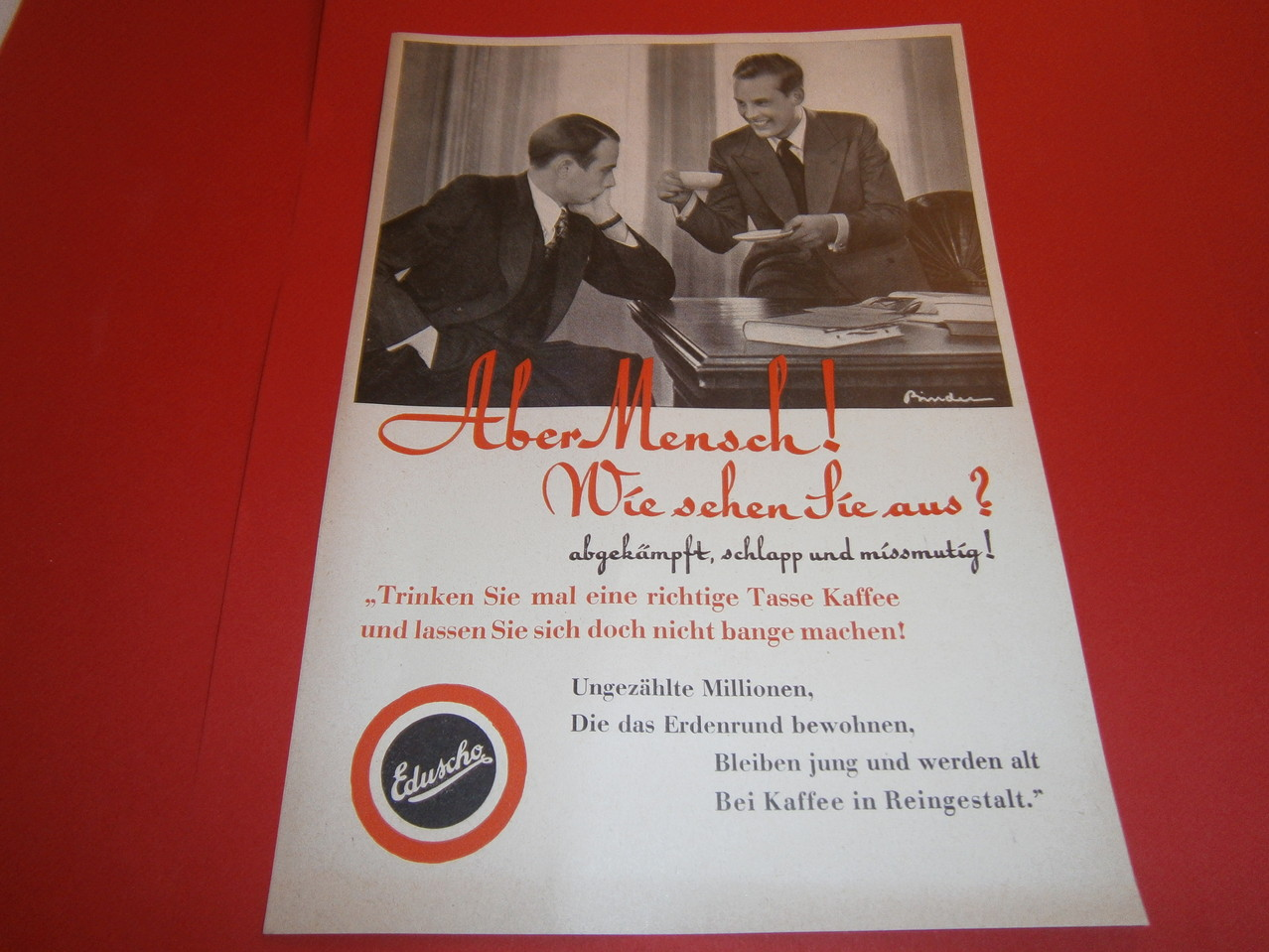 Eduscho Werbung 1938