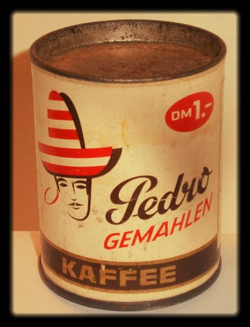 Kaffeedose Pedro 1960