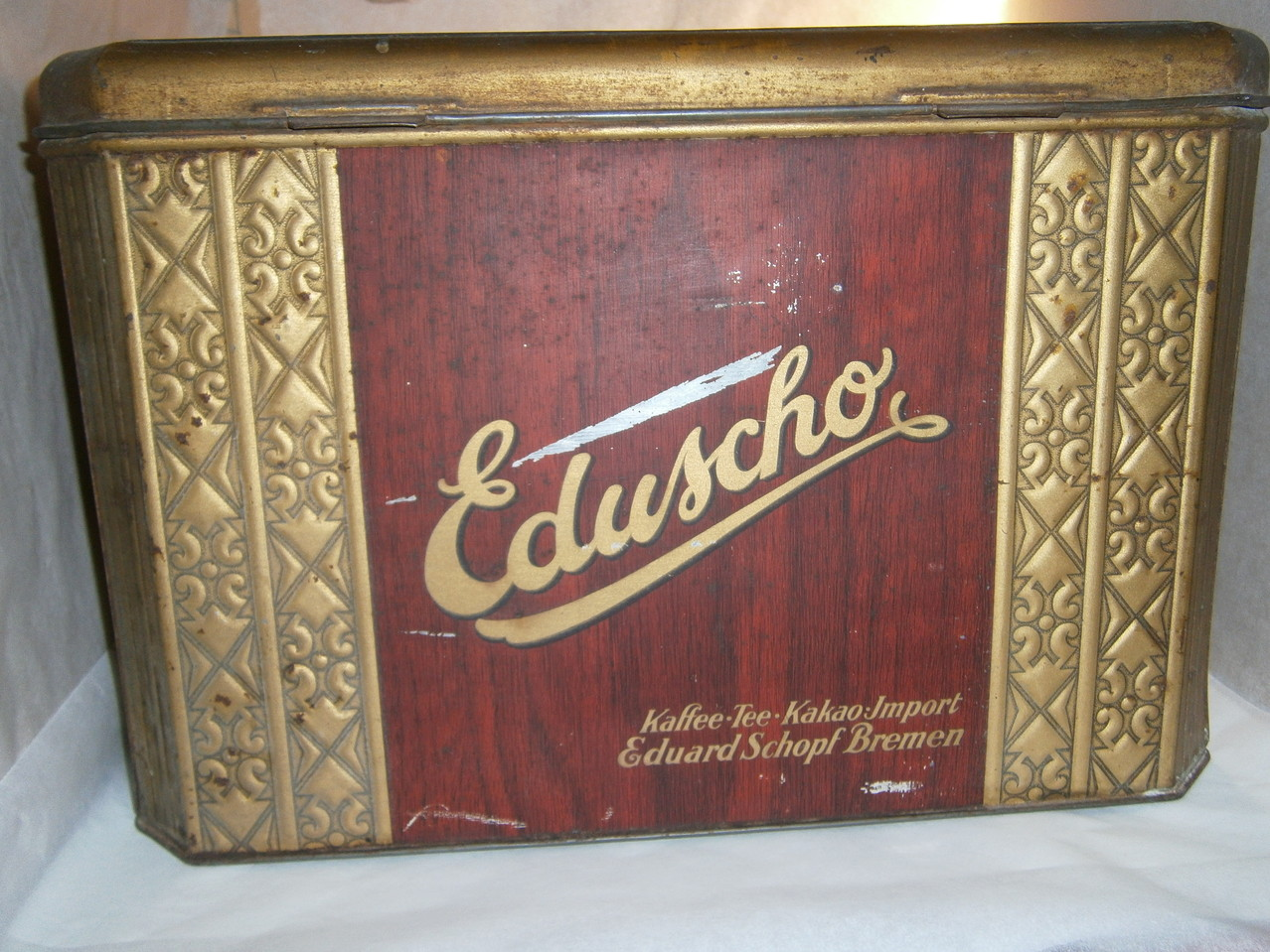 Große Eduscho Kaffeedose ab 1950